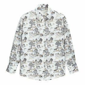 Cowboy Print Shirt with Long Sleeves