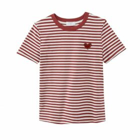 Ciroyo Cotton Breton T-Shirt with Crew-Neck