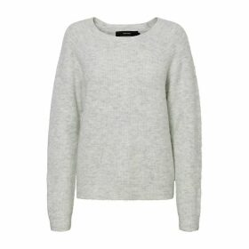 Fine Knit Jumper with Round Neck