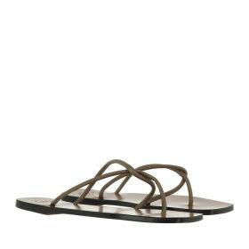 ATP Atelier Sandals - Alessano Nappa Sandals Khaki Brown - brown - Sandals for ladies