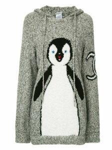 Chanel Pre-Owned 2007 knitted penguin hoodie - Grey