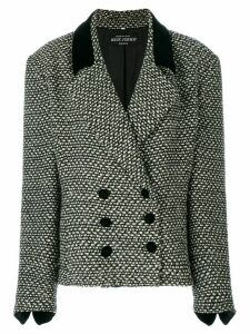 Louis Feraud Pre-Owned oversized double-breasted jacket - Black