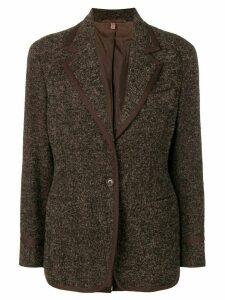 Romeo Gigli Pre-Owned 1990's tweed jacket - Black