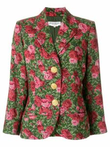 Yves Saint Laurent Pre-Owned roses printed blazer - Green