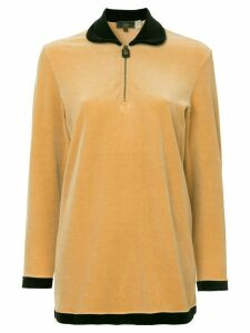 Fendi Pre-Owned logo longsleeved top - Brown