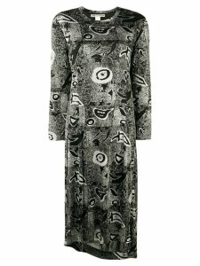 Comme Des Garçons Pre-Owned abstract print longsleeved dress - Black