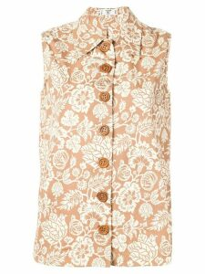 Valentino Pre-Owned 1970's floral print top - NEUTRALS