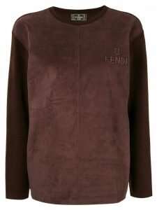 Fendi Pre-Owned panelled top - Brown