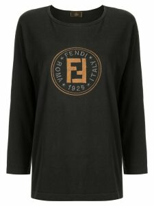 Fendi Pre-Owned long sleeve top - Black