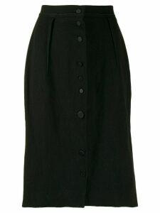 LANVIN Pre-Owned 2005s slim buttoned skirt - Black