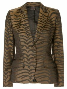 Fendi Pre-Owned leopard pattern blazer - Brown