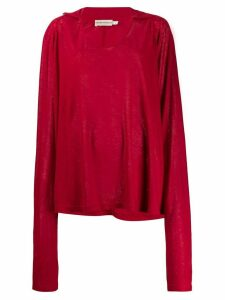 Giorgio Armani Pre-Owned 1990's oversized sleeves top - Red