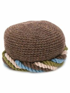 Yves Saint Laurent Pre-Owned 1970s twisted knitted cap hat - Brown