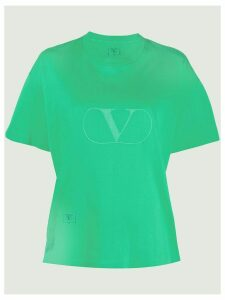 Valentino Pre-Owned 1990's logo print T-shirt - Green