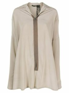 Gianfranco Ferré Pre-Owned 1990s zipped placket relaxed-fit shirt -