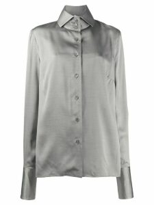 Gianfranco Ferré Pre-Owned button-up silk shirt - Black