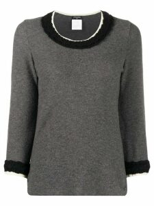 Chanel Pre-Owned 2007 textured details jumper - Grey