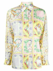 Versus Pre-Owned 1980s straight-fit floral shirt - Yellow