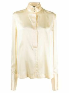 Gianfranco Ferré Pre-Owned 1990s long-sleeve silk shirt - Yellow