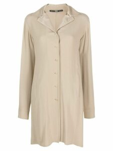 Gianfranco Ferré Pre-Owned 1990s button-up long shirt - NEUTRALS