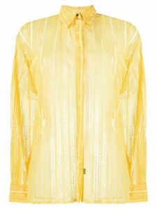 Versus Pre-Owned 1990s knitted sheer shirt - Yellow