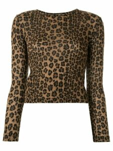 Fendi Pre-Owned leopard print T-shirt - Brown