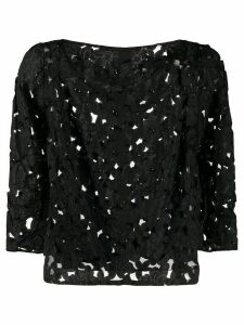 A.N.G.E.L.O. Vintage Cult 1980s floral cut-out blouse - Black