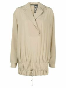 Gianfranco Ferré Pre-Owned 1990s drawstring hem blouse - NEUTRALS