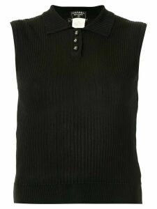 Chanel Pre-Owned 1997 CC button polo shirt - Black