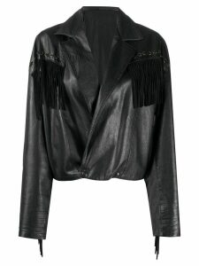 A.N.G.E.L.O. Vintage Cult 1980s fringed leather jacket - Black
