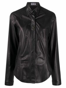 A.N.G.E.L.O. Vintage Cult 1990s leather overshirt - Black