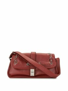 Chanel Pre-Owned 2004 whipstitch top handle bag - Red