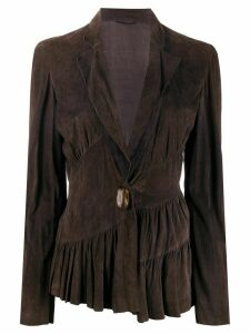 A.N.G.E.L.O. Vintage Cult 2000s pleated hem jacket - Brown