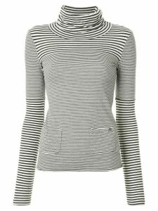 Chanel Pre-Owned 2005 striped CC T-shirt - Grey