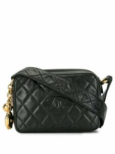 Chanel Pre-Owned 1992 quilted CC crossbody bag - Black