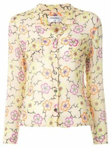 Chanel Pre-Owned floral print shirt - Yellow