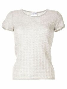 Chanel Pre-Owned 2009 ribbed knit T-shirt - Grey