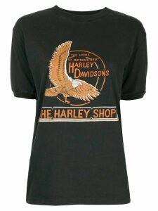 Fake Alpha Vintage The Harley Shop print T-shirt - Black
