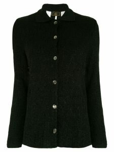 Fendi Pre-Owned Zucca monogram glitter cardigan - Black