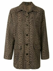 Fendi Pre-Owned leopard print overshirt - Brown