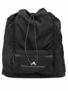 adidas by Stella McCartney logo print backpack - Black