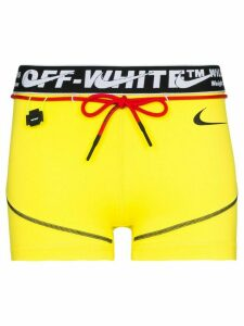 Nike x Off-White logo running shorts - Yellow