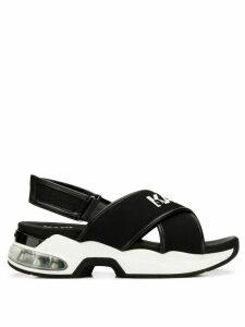 Karl Lagerfeld Ventura Karlx x strap slides - Black