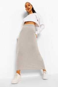 Womens Basic Jersey Maxi Skirt - Grey - 16, Grey