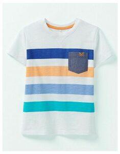 Crew Clothing Printed Stripe T-Shirt