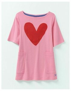 Crew Clothing Short Sleeve Heart Print Tunic