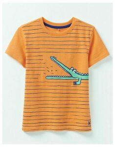 Crew Clothing Break Out Breton Crocodile T-Shirt