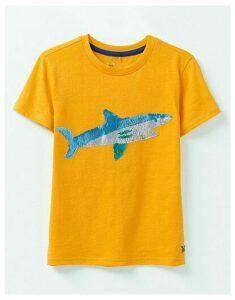 Crew Clothing Flip Sequin Surfboard/Shark T-Shirt