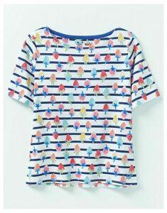 Crew Clothing Strawberry Print Breton T-Shirt