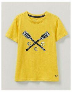 Crew Clothing Flip Sequin Oars Print T-Shirt